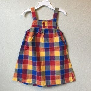 Rainbow Patchwork Button Dress